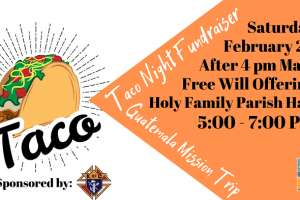 Taco Night Fundraiser Guatemala Mission Trip