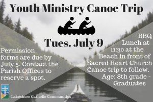 Youth Ministry Canoe Trip