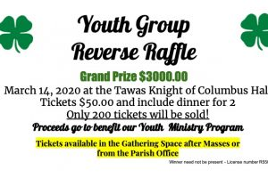 RESCHEDULED: Youth Group Reverse Raffle